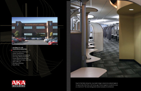 AKA Builders Brochure. Commercial Construction - Austin, Texas. Brand Identity, Glenn Clegg - Designer/Creative