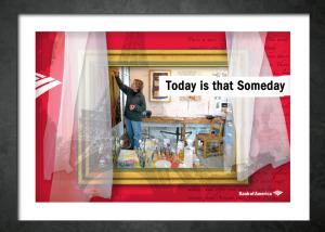 Bank of America- WIndow displays. Brand Identity, Glenn Clegg -Art Director