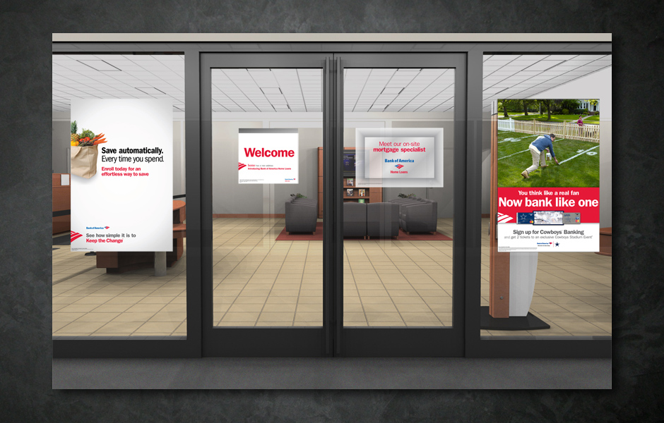 Bank of America- In Store promotional displays and signage2