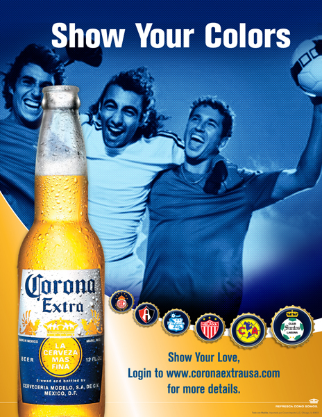 Corona Beer- World Cup Soccer, Show your love for the game. Brand Identity, Glenn Clegg.