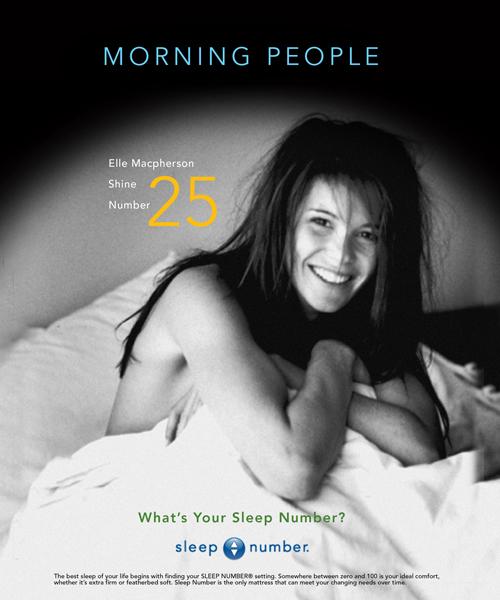 Sleep Number - Comp-Elle-macpherson. Brand Identity, Glenn Clegg