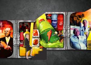 Gatorade-Pepsico-Chicago-corporate office wall graphic, Brand Identity, Glenn Clegg