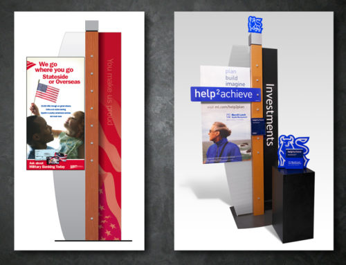 Bank of America, Merrill Lynch in store displays