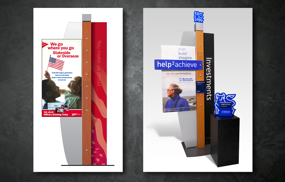 Bank of America- In Store promotional displays and signage3