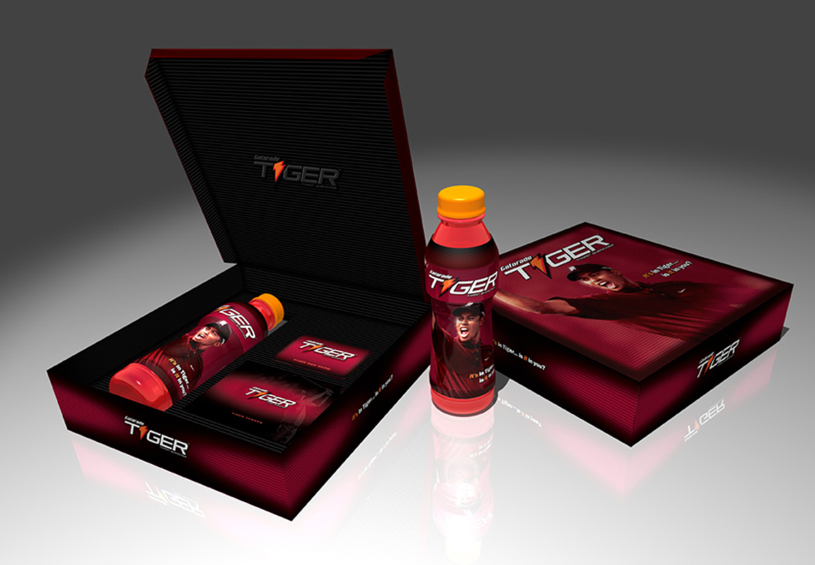 Gatorade Tiger Brand- product rollout promo. Press kit. Brand Identity, Glenn Clegg