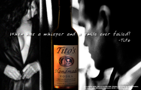 Tito's Vodka - Concept, in store case card. Brand Identity, Glenn Clegg