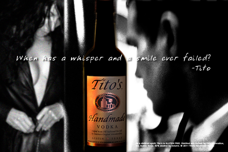 Titos Vodka - Concept, in store case card