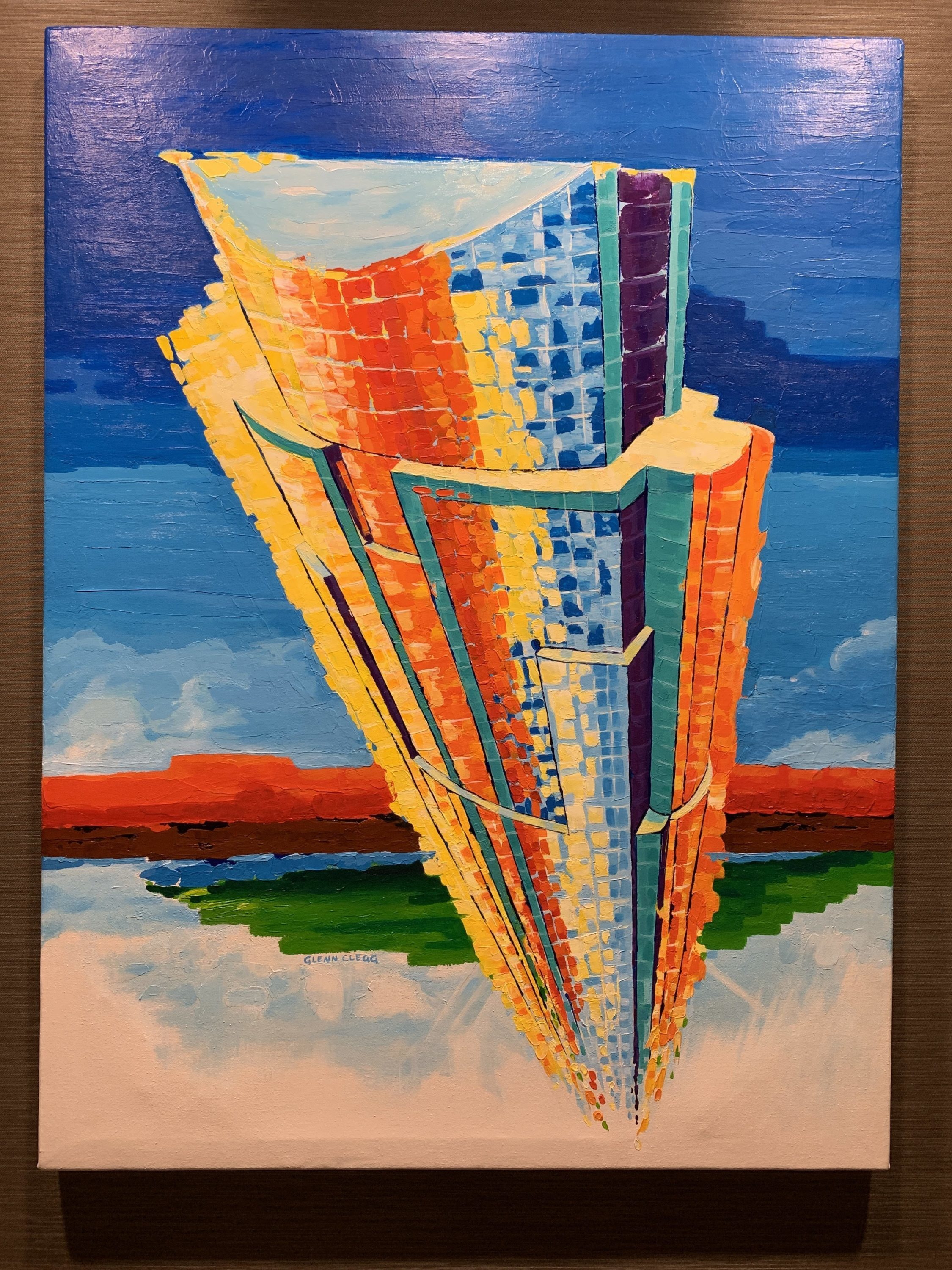 Painting #1 Austonian high rise in downtown Austin, Texas.