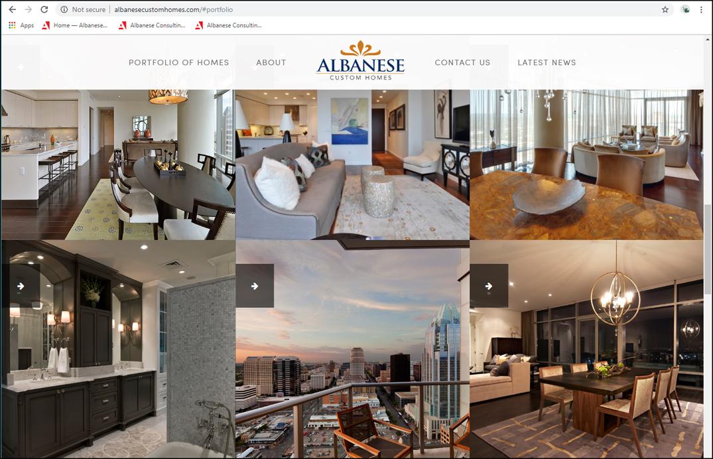 Albanese Custom Homes-website